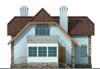 Фасад 4 :: Проект коттеджа 10-41