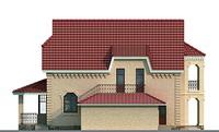 Фасад 3 :: Проект коттеджа 51-31