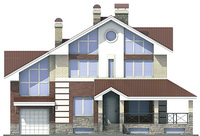 Фасад 1 :: Проект коттеджа 53-74