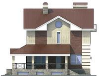 Фасад 3 :: Проект коттеджа 53-74
