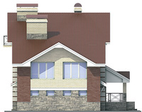 Фасад 4 :: Проект коттеджа 53-74