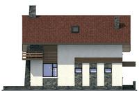 Фасад 3 :: Проект коттеджа 54-05