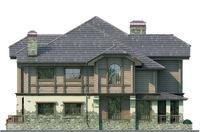 Фасад 4 :: Проект коттеджа 54-41