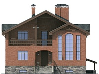 Фасад 1 :: Проект коттеджа 54-45
