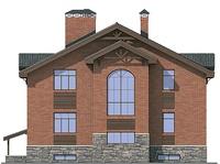 Фасад 2 :: Проект коттеджа 54-45