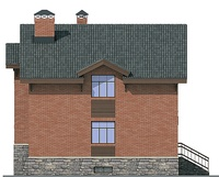 Фасад 4 :: Проект коттеджа 54-45