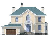 Фасад 1 :: Проект коттеджа 54-92