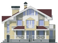 Фасад 1 :: Проект коттеджа 55-04