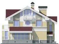 Фасад 2 :: Проект коттеджа 55-04