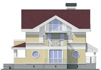 Фасад 3 :: Проект коттеджа 55-04