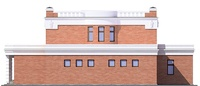 Фасад 2 :: Проект коттеджа 55-48
