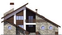 Фасад 1 :: Проект коттеджа 55-66