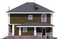 Фасад 3 :: Проект коттеджа 55-72