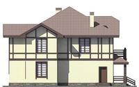 Фасад 4 :: Проект коттеджа 55-77