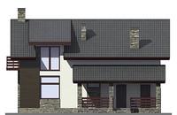 Фасад 3 :: Проект коттеджа 55-81