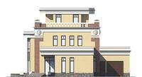 Фасад 3 :: Проект коттеджа 55-89