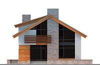 Изображение фасада 2 :: Проект коттеджа 62-54