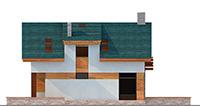 Изображение фасада 3 :: Проект коттеджа 62-54