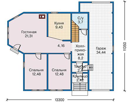 деревянного дома 10-03