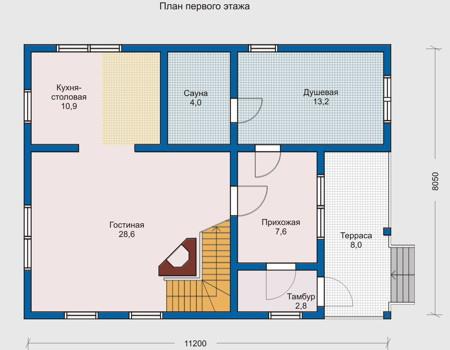 План первого этажа проект 10 18