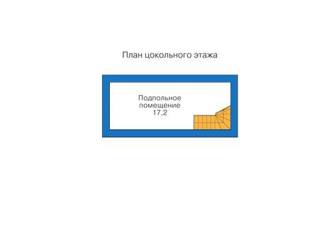 Планировка цокольного этажа :: Проект деревянного дома 10-19