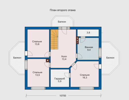 План дома чертеж 10 на 10