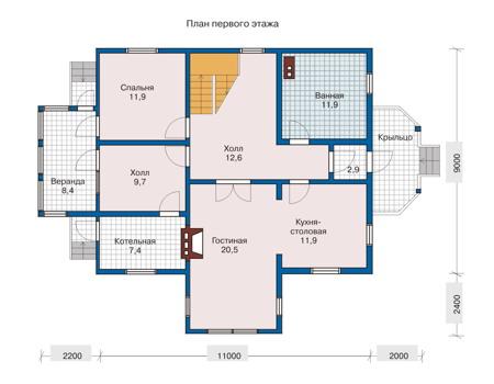 План первого этажа :: Проект 10-41