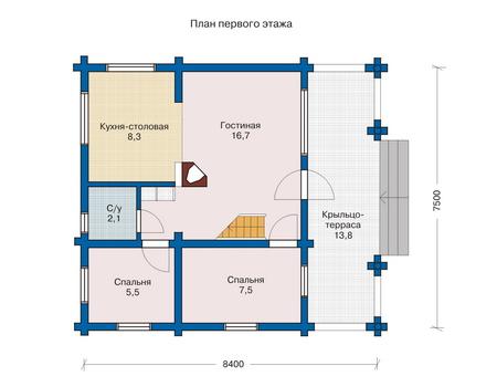 Plán dom 10 x 10 2 poschodia