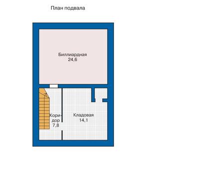 Планировка цокольного этажа :: Проект деревянного дома 10-81