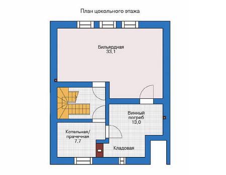 Планировка цокольного этажа :: Проект деревянного дома 11-50