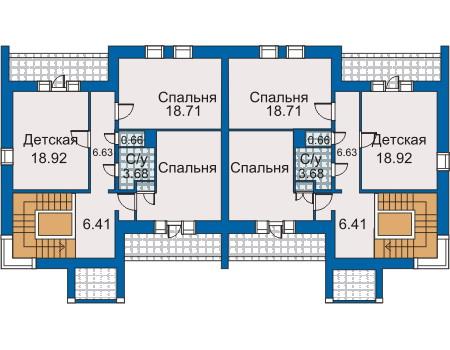 Планировка второго этажа :: Проект дома из кирпича 30-97