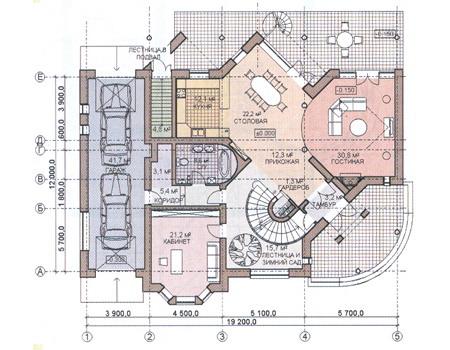 Планировка первого этажа :: Проект дома из комбинированных материалов 31-07