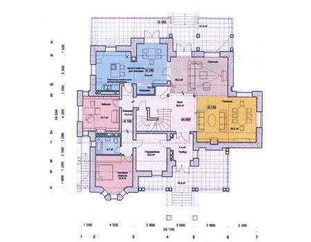 Планировка первого этажа :: Проект дома из комбинированных материалов 31-16