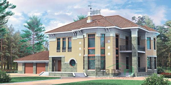 Кровля - металлочерепица. строительство монолитных домов.  Площадь.  209000.