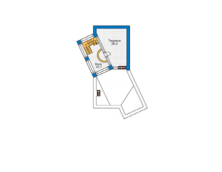 Планировка цокольного этажа :: Проект дома из кирпича 36-54