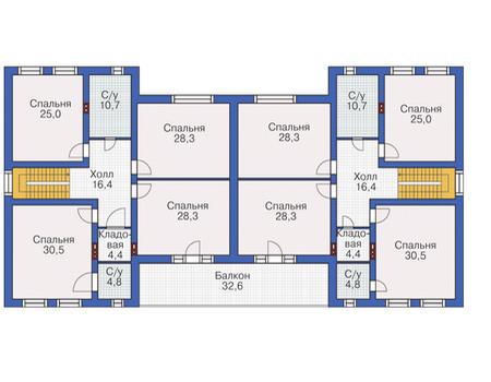 Планировка второго этажа :: Проект дома из кирпича 37-31