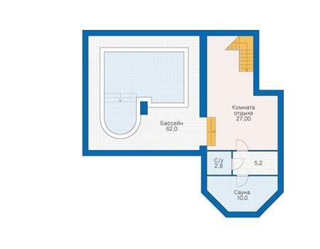 Планировка цокольного этажа :: Проект дома из кирпича 39-31