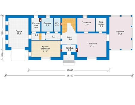 Планировка первого этажа проект