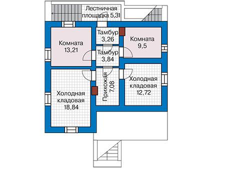 Планировка цокольного этажа :: Проект дома из кирпича 42-93