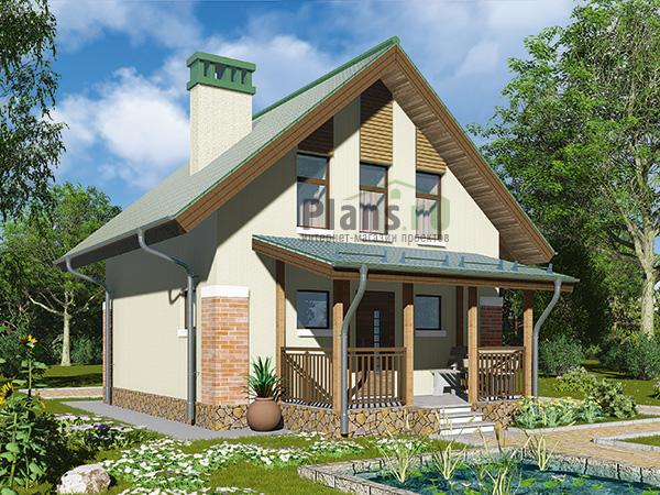 Фотографии красивых кирпичных домов с мансардой, проекты.