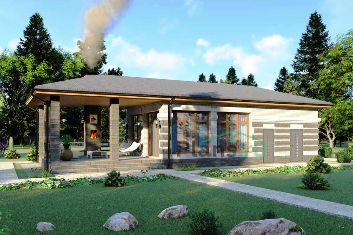 Проект кирпичного дома 43-61 :: Интернет-магазин Plans.ru ...