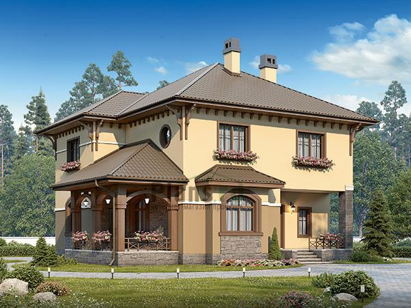 Двухэтажный кирпичный дом №46-05