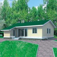 Проекты одноэтажных дачных домов из