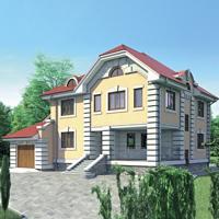 Кирпичный загородный дом - Типовой проект 52-16.