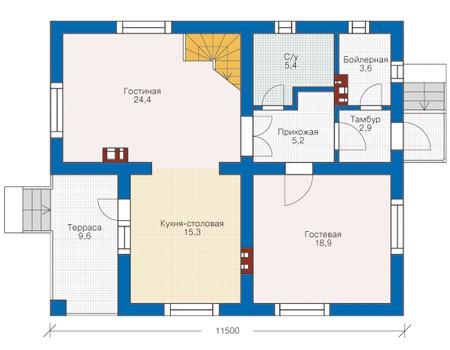 План первого этажа :: Проект 53-39
