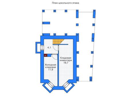 Планировка цокольного этажа :: Проект дома из газобетона 53-70