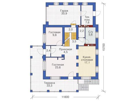План первого этажа :: Проект 53-74