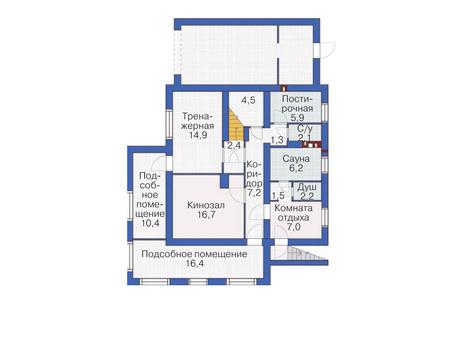 План цокольного этажа :: Проект 53-74