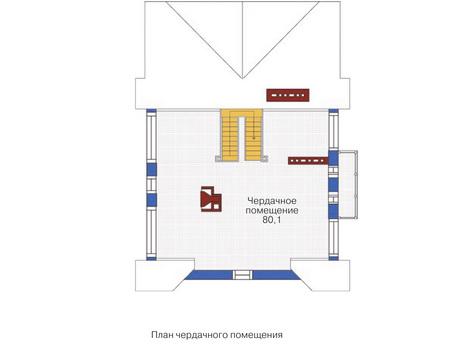 План мансардного этажа :: Проект 53-74