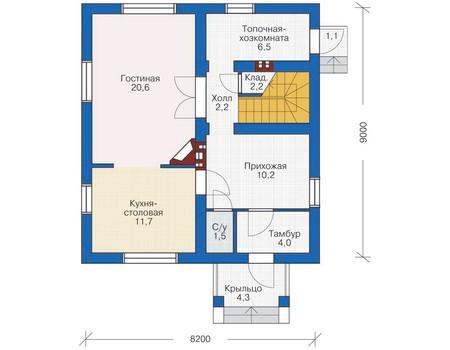 План первого этажа :: Проект 53-98